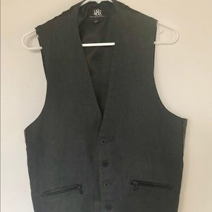 Rock & Republic men's XL cotton Grey dress vest